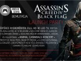 Assassin S Creed Birthday Invitations assassin 39 S Creed Iv Black Flag Launch Party