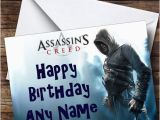 Assassin S Creed Birthday Invitations assassins Creed Blue Personalised Birthday Card the Card Zoo