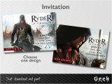 Assassin S Creed Birthday Invitations assassins Creed Unity Party Invitation Printable by Geekparty