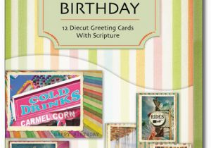 Assorted Birthday Cards In A Box Fair Diecut Of 12 Christian