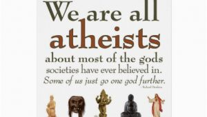 Atheist Birthday Card Were All atheists Card Zazzle