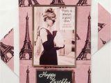 Audrey Hepburn Birthday Card Audrey Hepburn Birthday Greetings Card Birthday Wishes