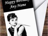 Audrey Hepburn Birthday Card Audrey Hepburn Personalised Birthday Card the Card Zoo