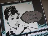 Audrey Hepburn Birthday Card Kpwd Breakfast at Tiffanys Audrey Hepburn Card