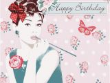 Audrey Hepburn Birthday Card This is Pretty Simply Darling Audrey with Corsage