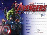 Avenger Birthday Invitations Avengers Age Of Ultron Marvel Party Invitations Kids
