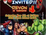 Avenger Birthday Invitations Marvel Avengers Birthday Invitations