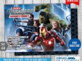 Avengers Birthday Invitation Templates Free Avengers Birthday Invitation 1 by Templatemansion On