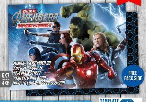 Avengers Birthday Invitation Templates Free 1 By Templatemansion On