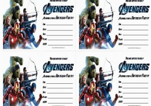 Avengers Birthday Invitation Templates Free Invitations Printable