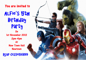 Avengers Birthday Invitation Templates Free Party Invitations