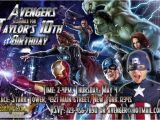 Avengers Birthday Invitations Custom Avengers Birthday Party Invitation Custom Printable