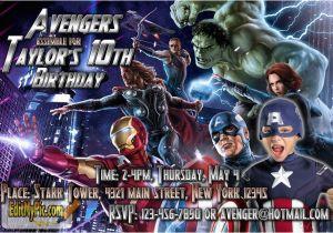 Avengers Birthday Invitations Custom Party Invitation Printable