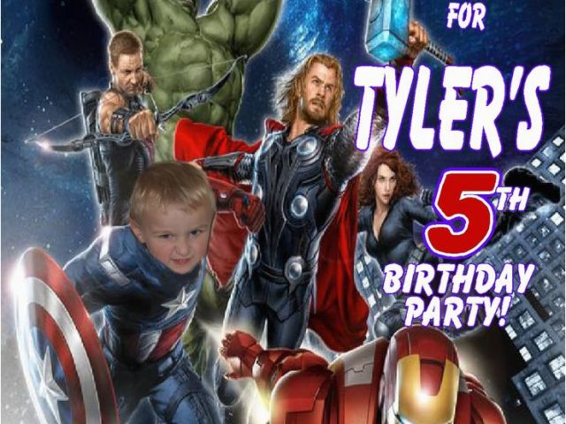 Download By SizeHandphone Tablet Desktop Original Size Back To Avengers Birthday Invitations Custom