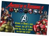 Avengers Birthday Invitations Custom Birthday and Party Invitation Avengers Birthday