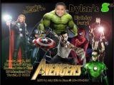 Avengers Birthday Invitations Custom Custom Avengers Birthday Invitations