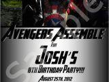 Avengers Birthday Invitations Custom Custom Avengers Birthday Invitations Paaartaaay