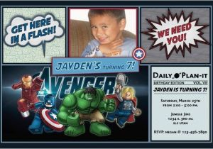 Avengers Birthday Invitations Custom Cobypic Com