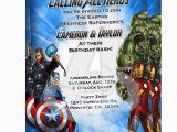 Avengers Birthday Invitations Custom Personalized Avengers Birthday Invitations
