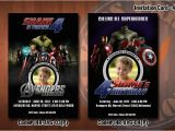 Avengers Birthday Invitations Custom Personalized Avengers Birthday Party Invitation 4×6 with