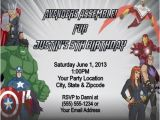 Avengers Birthday Invitations Custom Personalized Avengers Birthday Party Invitations Hnc