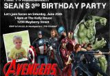 Avengers Birthday Invites Avengers Birthday Invitation Design W Child 39 S Photo