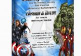 Avengers Birthday Invites Avengers Invitations Party Invitations Ideas