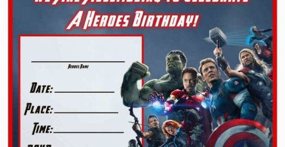 Avengers Birthday Invites Free Avengers Age Of Ultron Printable Party Decoration