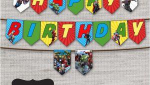 Avengers Happy Birthday Banner Free Printable Avengers Birthday Banneravengersavengers by Diypartyprint