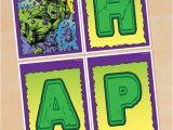Avengers Happy Birthday Banner Free Printable Hulk Birthday Banner Free Printable Incredible Hulk