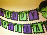 Avengers Happy Birthday Banner Free Printable the Hulk Inspired Happy Birthday Banner