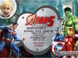 Avengers Photo Birthday Invitations 34 Superhero Birthday Invitation Templates Free Sample