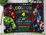 Avengers Photo Birthday Invitations Avengers Birthday Invitation Avengers Invitation Avengers