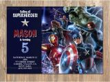 Avengers Photo Birthday Invitations Avengers Birthday Invitation Avengers Invite Avengers Party