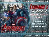 Avengers Photo Birthday Invitations Avengers Birthday Invitation Kustom Kreations