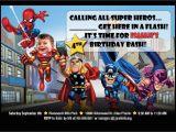 Avengers Photo Birthday Invitations Avengers Birthday Invitations