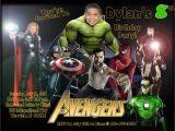 Avengers Photo Birthday Invitations Avengers Invitations Template Party Invitations Ideas