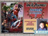 Avengers Photo Birthday Invitations the Avengers Birthday Invitations the Avengers Age Of Ultron