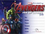 Avengers themed Birthday Invitation Avengers Age Of Ultron Marvel Party Invitations Kids