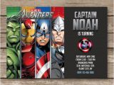Avengers themed Birthday Invitation Superhero Invitation Super Hero Invite Avengers by