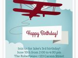 Aviation Birthday Cards Airplane Birthday Invitation Invitations Cards On Pingg Com