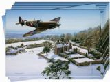 Aviation Birthday Cards Spitfire Over Chartwell Christmas Cards Pack Of 10