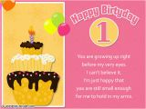 Baby 1st Birthday Card Messages 1st Birthday Wishes Card for Baby Boy Best Happy