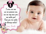 Baby 1st Birthday Thank You Cards Cute Baby Minnie Mouse 1st Birthday Thank You Card