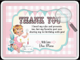 Baby 1st Birthday Thank You Cards Vintage Baby 1st Birthday Thank You Cards Di 230ty