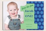 Baby Boy 1st Birthday Party Invitations 16 Best First Birthday Invites Printable Sample