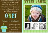 Baby Boy 1st Birthday Party Invitations Baby Boy 1st Birthday Invitation A Birthday Cake