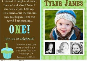 Baby Boy 1st Birthday Party Invitations Invitation A Cake
