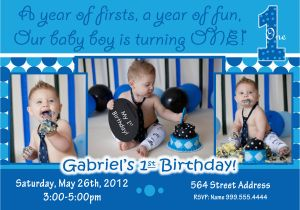 Baby Boy 1st Birthday Party Invitations Free Printable