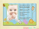 Baby Boy 1st Birthday Party Invitations First Birthday Boy Invitation Baby Jungle Safari Party